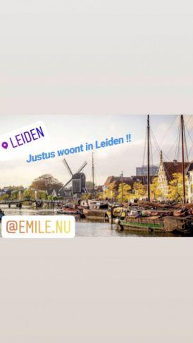 Justus woont in Leiden