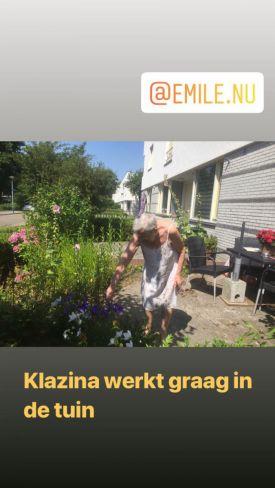 Klazina houdt van de tuin