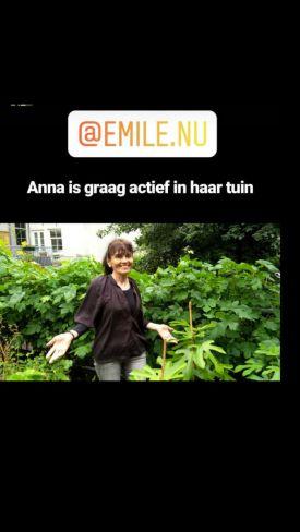Anna is graag actief in de tuin