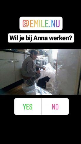 Anna in de keuken